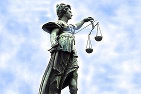 Statue der Justitia - Göttin der Gerechtigkeit.