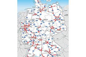 ACE-Staukarte – Verkehrslage zu Ostern