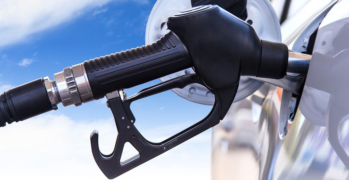 Zapfpistole in der Tanköffnung